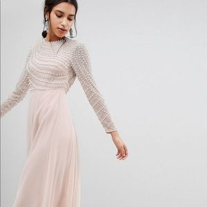 ASOS pearl and beaded evening gown